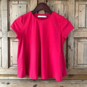 Susana Monaco S Cropped Lined Red